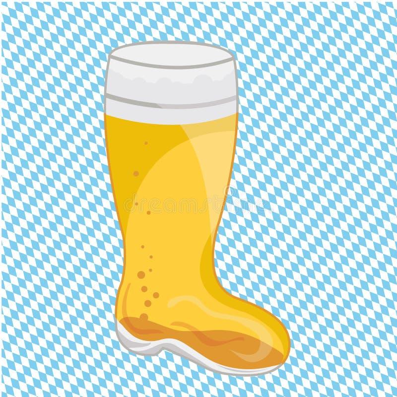 Cerveza de Oktoberfest stock de ilustración