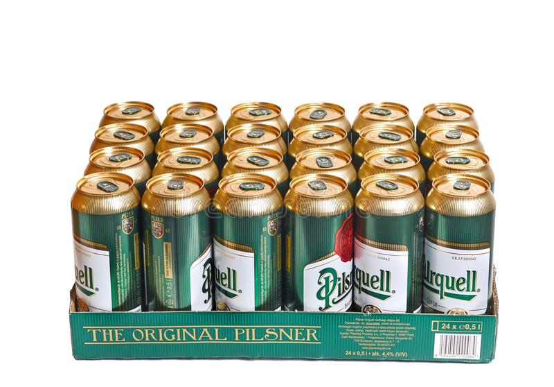 Cerveza de Pilsner Urquell imagen de archivo libre de regalías