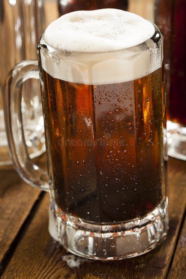 Cerveza de raíz de restauración fría imagenes de archivo