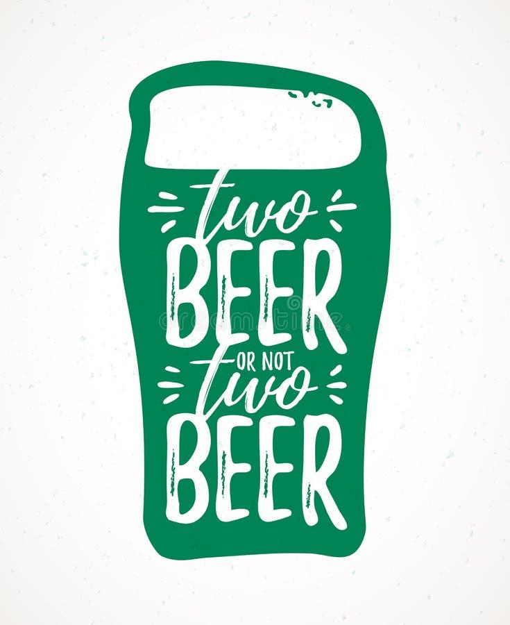 Cerveza dos cerveza o no dos stock de ilustración