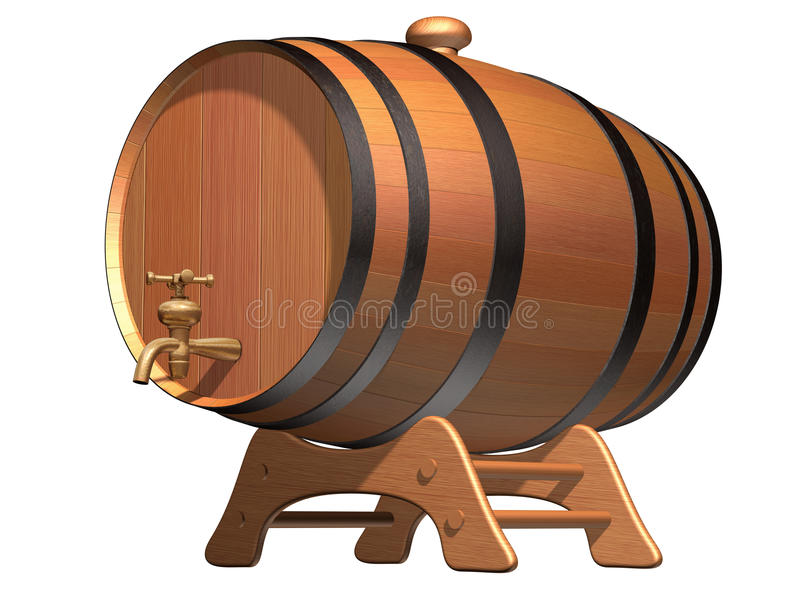 Cerveza en golpecito stock de ilustración