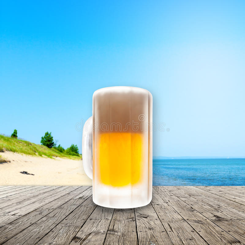 Cerveza fría fresca foto de archivo libre de regalías