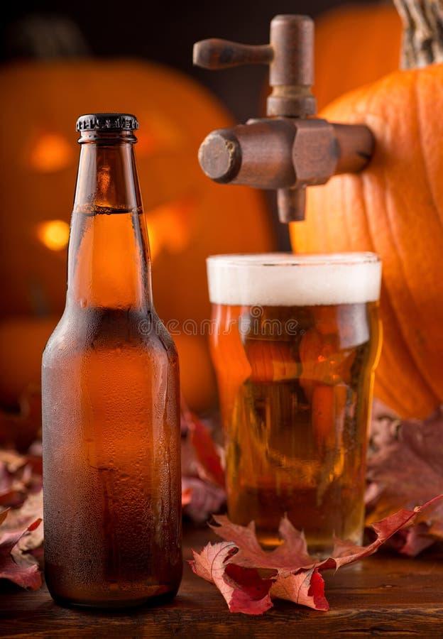Cerveza inglesa de la calabaza foto de archivo libre de regalías