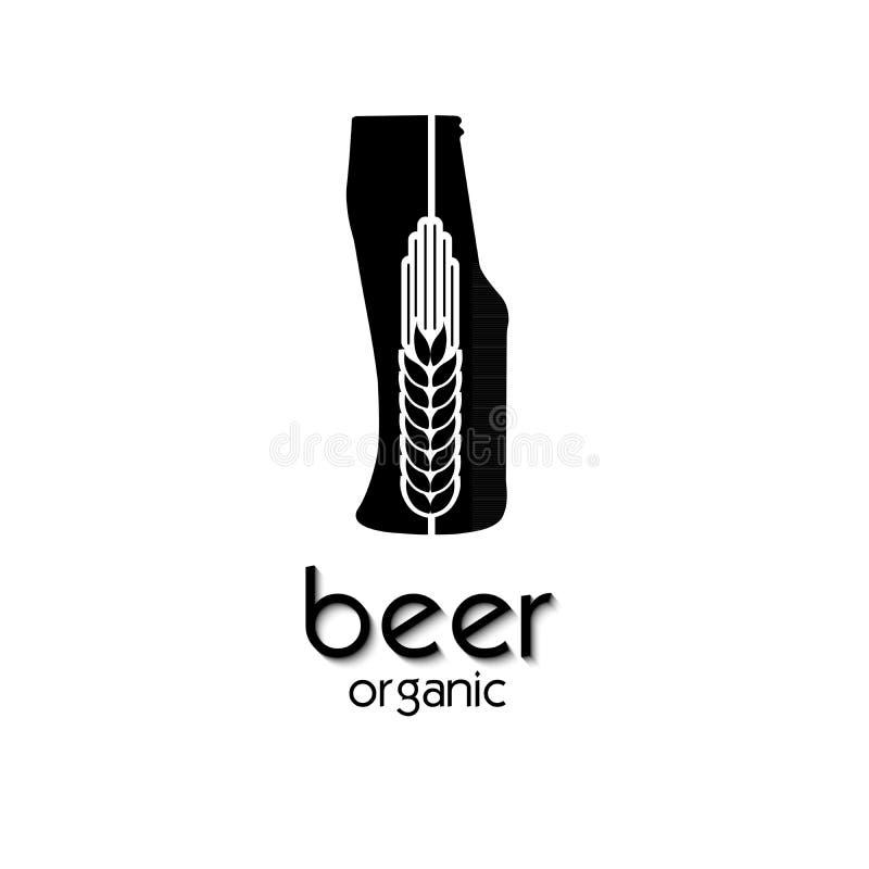 Cerveza plana creativa de la cebada del diseño del icono Muestra o símbolo stock de ilustración
