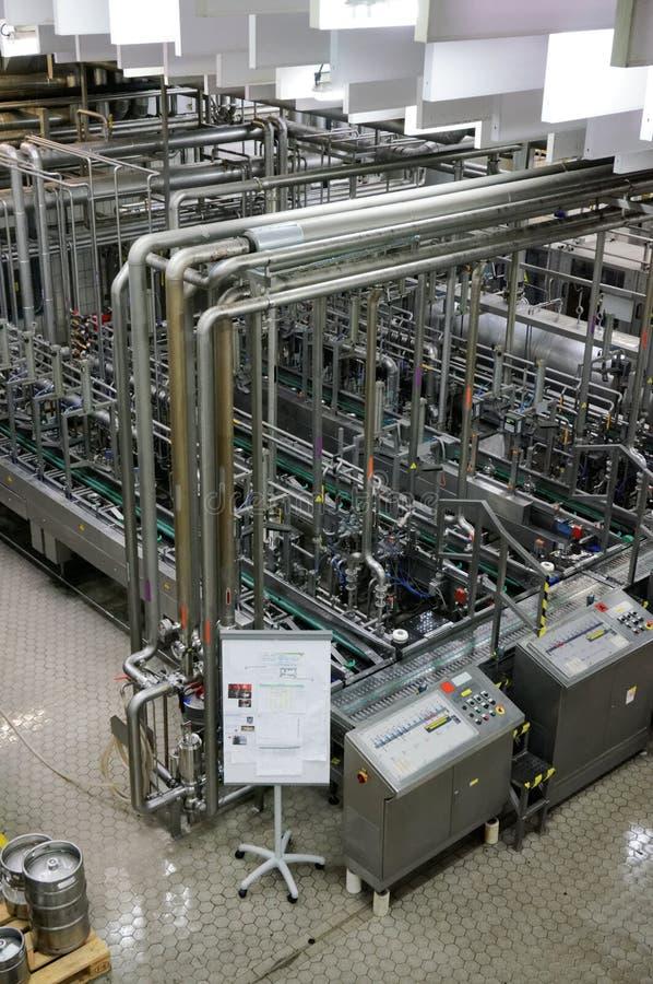Cerveza que hace la planta foto de archivo libre de regalías