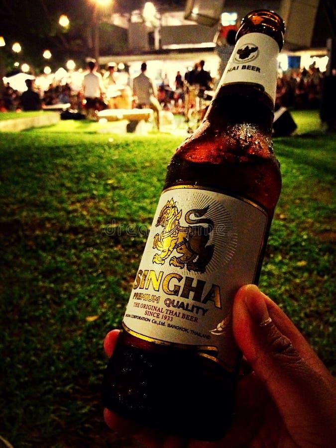 Cerveza Singha foto de archivo