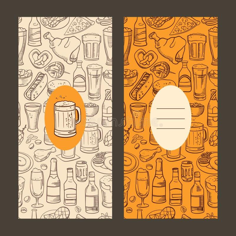 Cerveza y bocados incompletos libre illustration