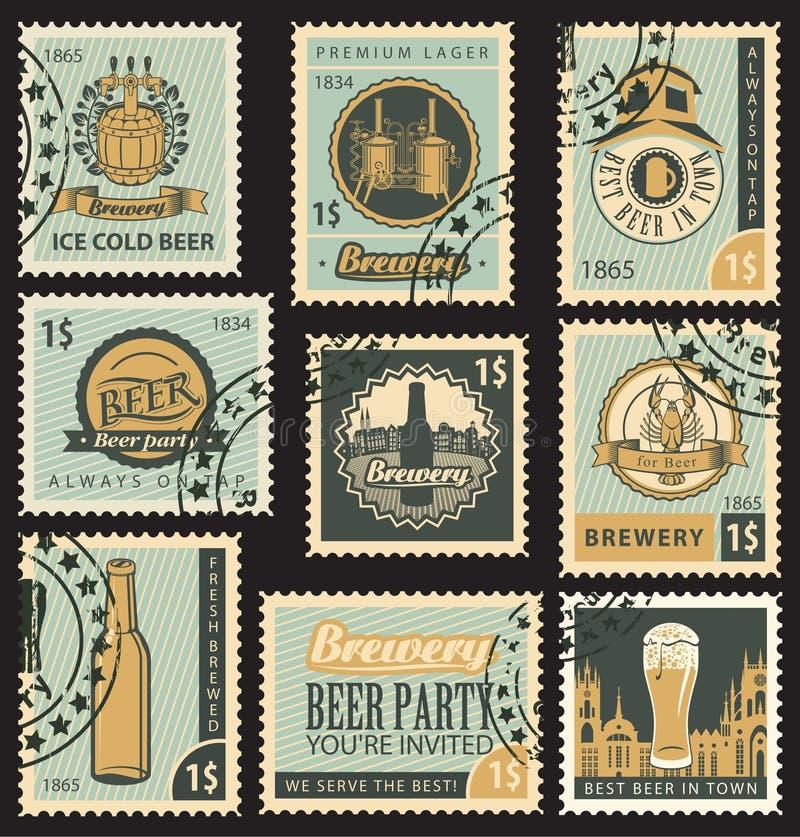 Cerveza y cervecería ilustración del vector