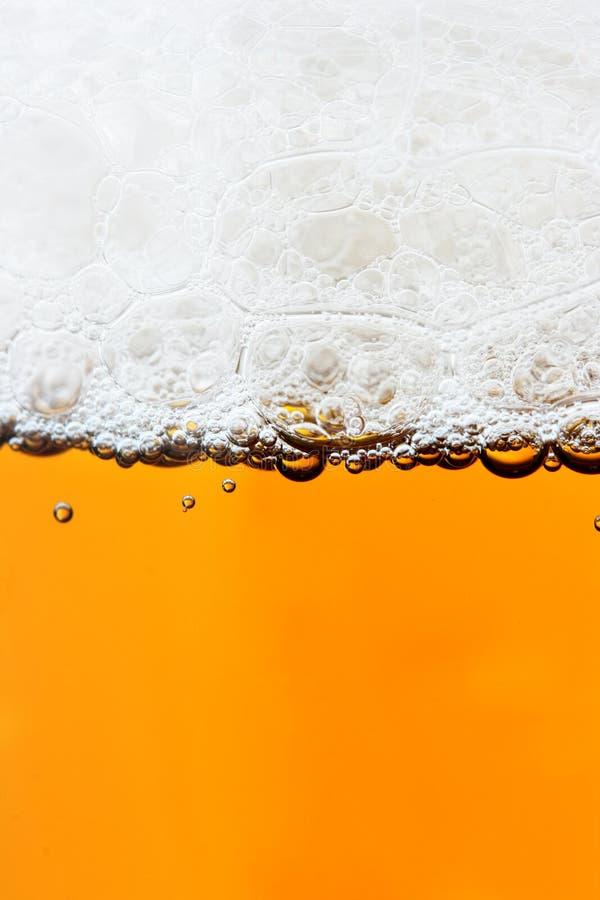 Cerveza y espuma fotografía de archivo