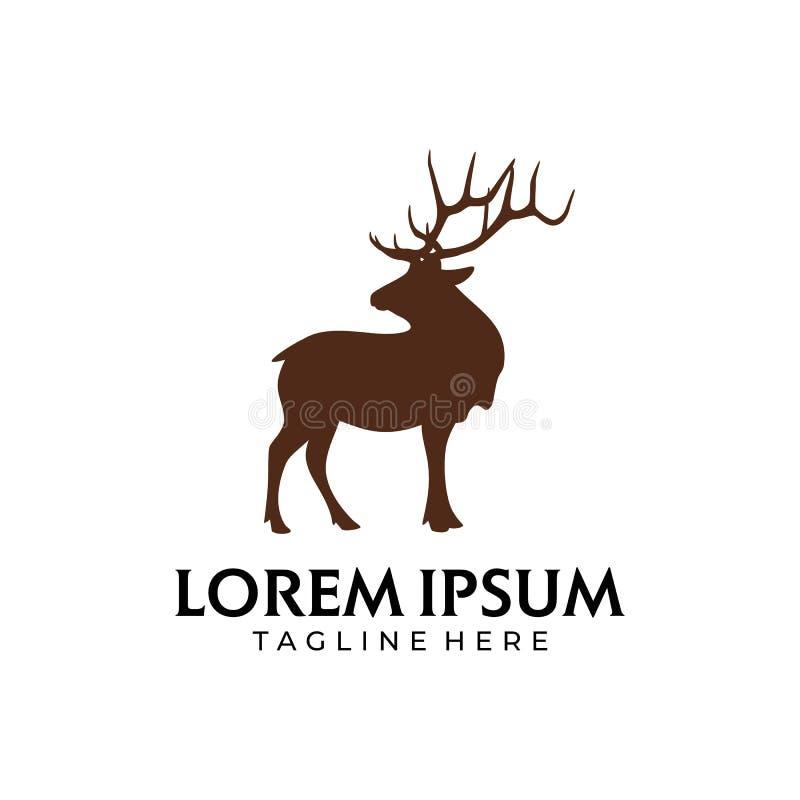 Cervi Brown con Horn illustrazione vettoriale