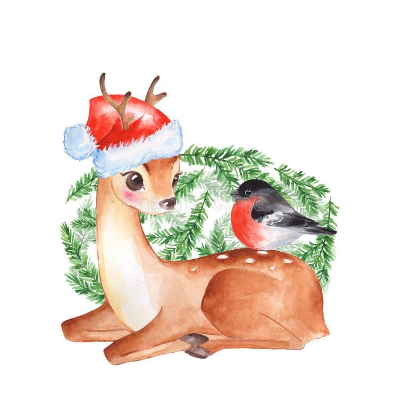 Cervi del bambino Fawn sveglio illustrazione di stock