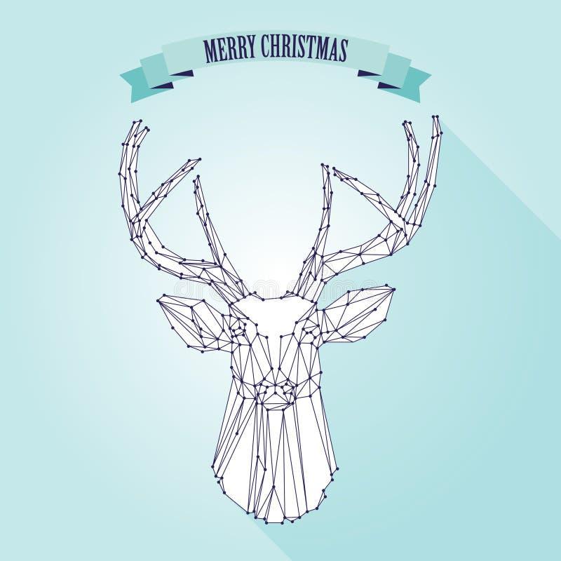 Cervi di Natale su fondo leggero illustrazione di stock