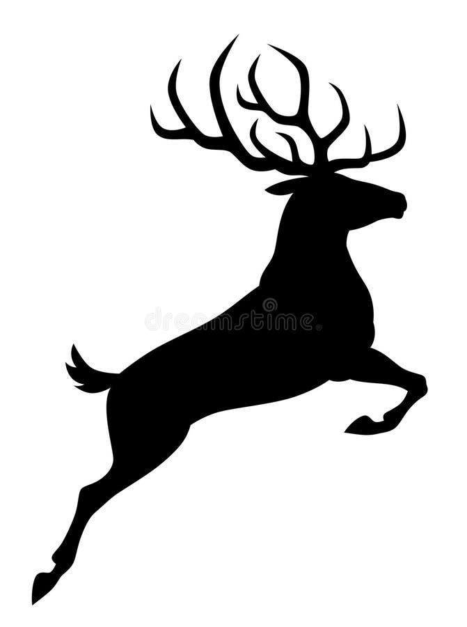 Cervi neri royalty illustrazione gratis