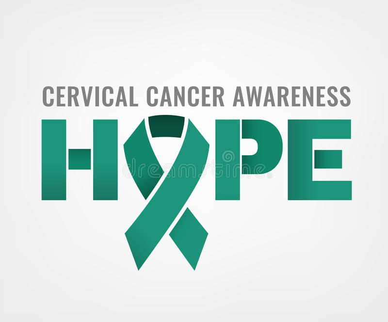 Cervical cancer awareness stock illustration