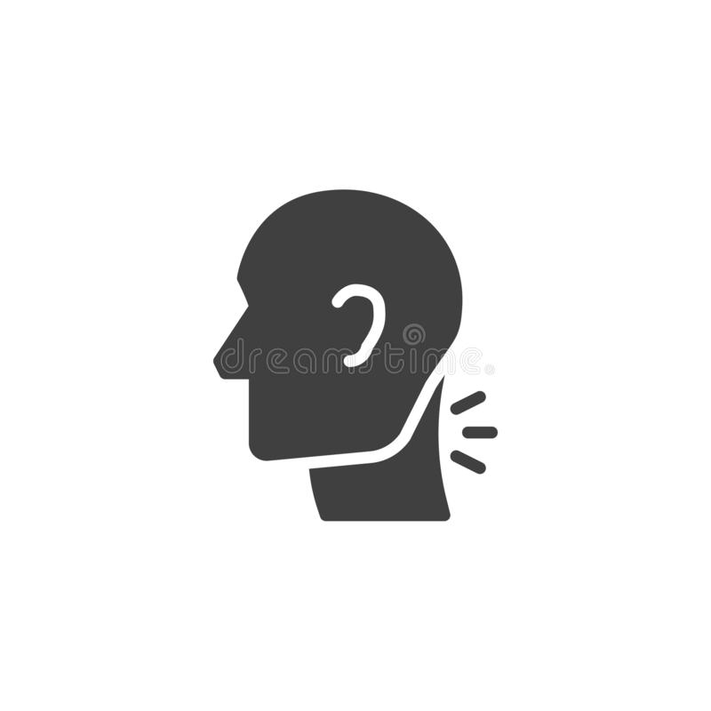 Cervical spine pain vector icon vector illustration