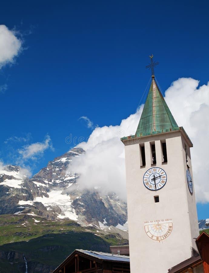 Cervinia,瓦尔d'Aosta,意大利 库存照片