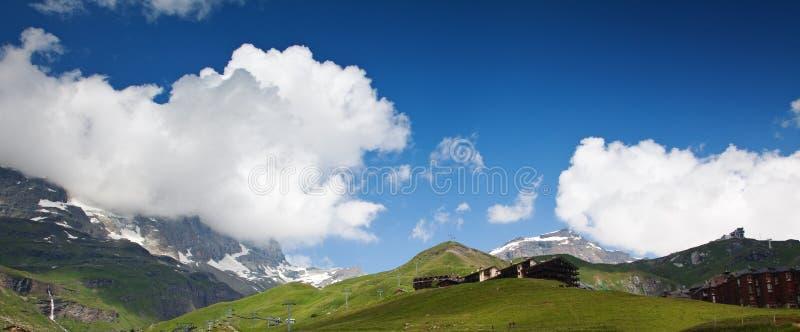 Cervinia,瓦尔d'Aosta,意大利 库存图片