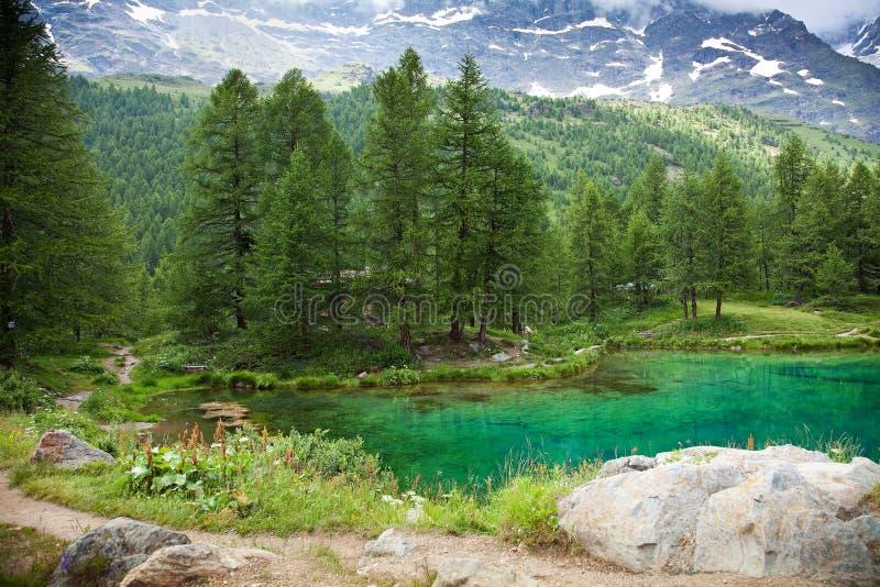 Cervinia,瓦尔d'Aosta,意大利 免版税库存图片