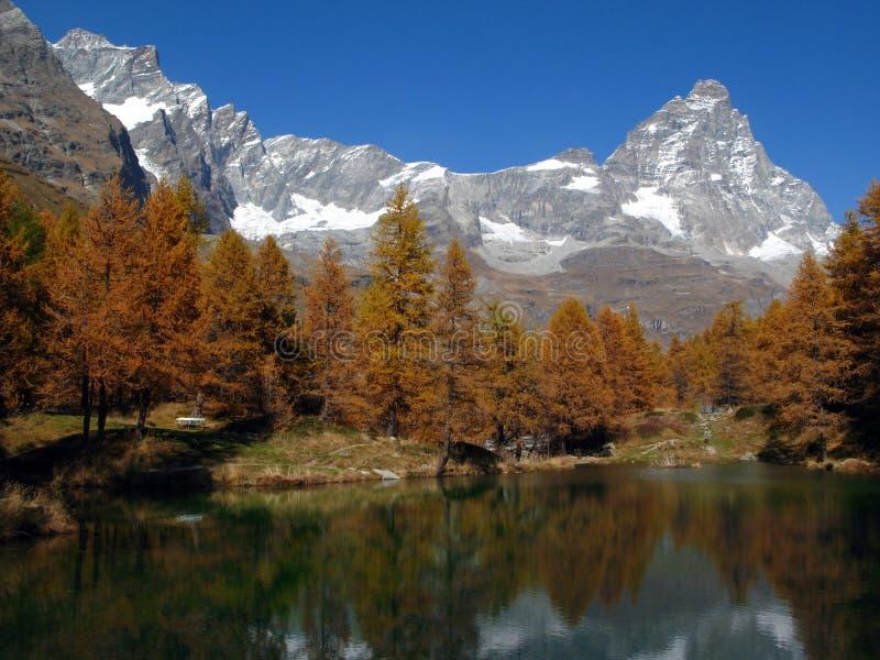 Cervino-Matterhorn 02, breuil-Cervinia, Italië stock afbeelding