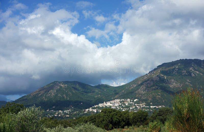 Cervione village in corsica. Cervione village in Costa verde mountains royalty free stock photos