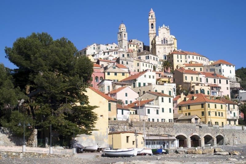 cervo la ligurie italie image stock image du beau district 38717661. Black Bedroom Furniture Sets. Home Design Ideas