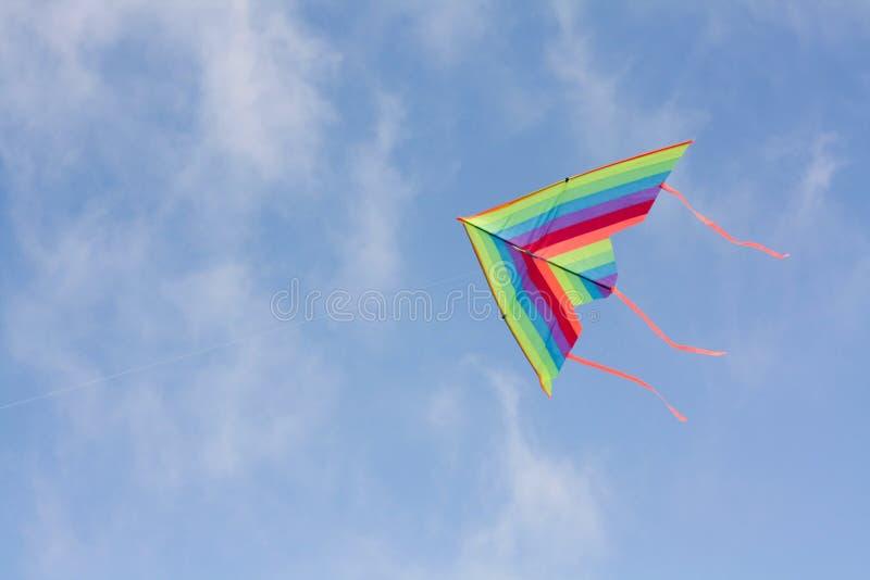 Cervo volante in cielo fotografie stock