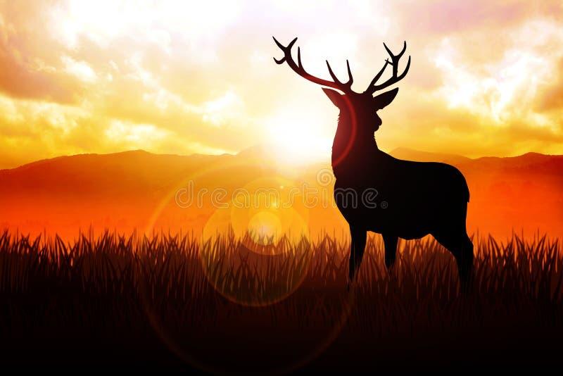 Cervos ilustração royalty free