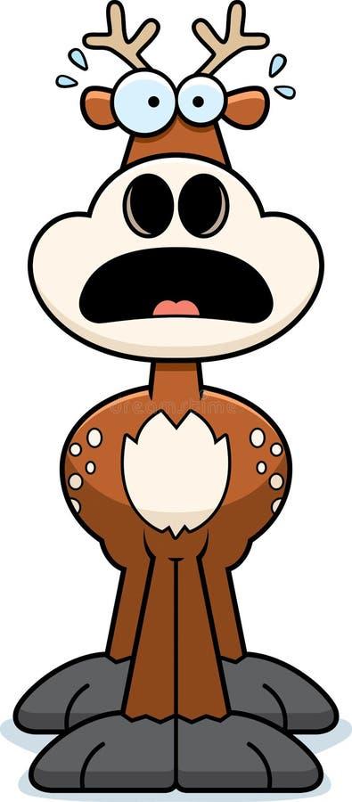 Cervos assustado dos desenhos animados ilustração stock