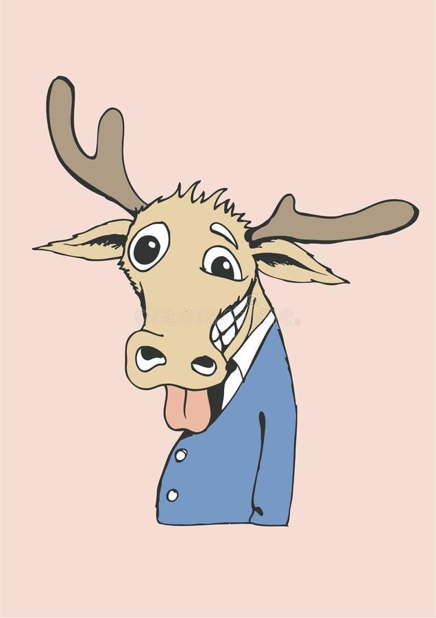 Cervos bebidos Natal imagens de stock royalty free
