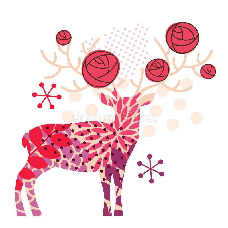 Cervos bege ilustração royalty free