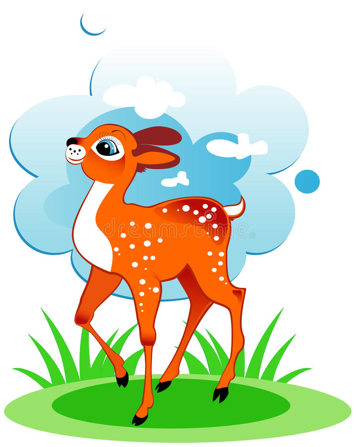 Cervos bonitos ilustração do vetor
