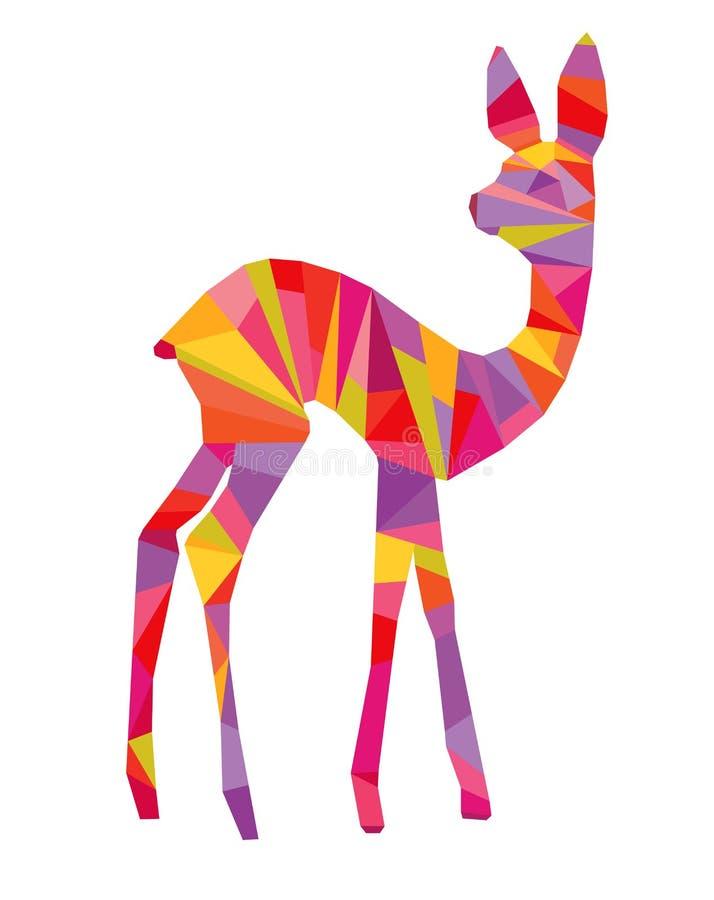 Cervos coloridos abstratos ilustração do vetor