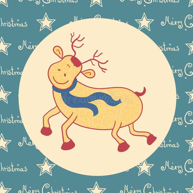 Cervos da garatuja do Natal ilustração stock