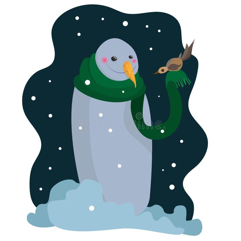 Cervos de Santa Claus Saint Nicholas do avô da arte do vetor do boneco de neve ilustração do vetor