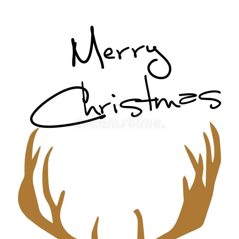 Cervos do Feliz Natal ilustração do vetor