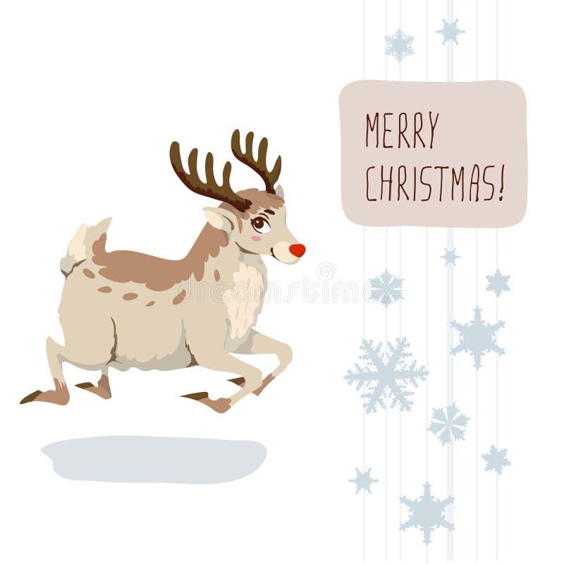 Cervos do Natal ilustração do vetor