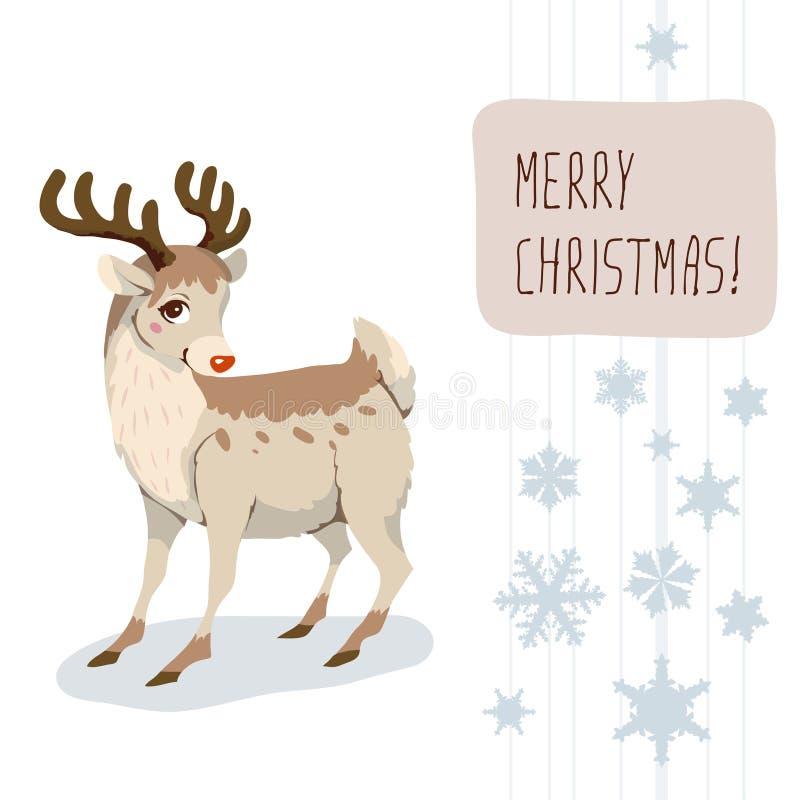 Cervos do Natal ilustração stock