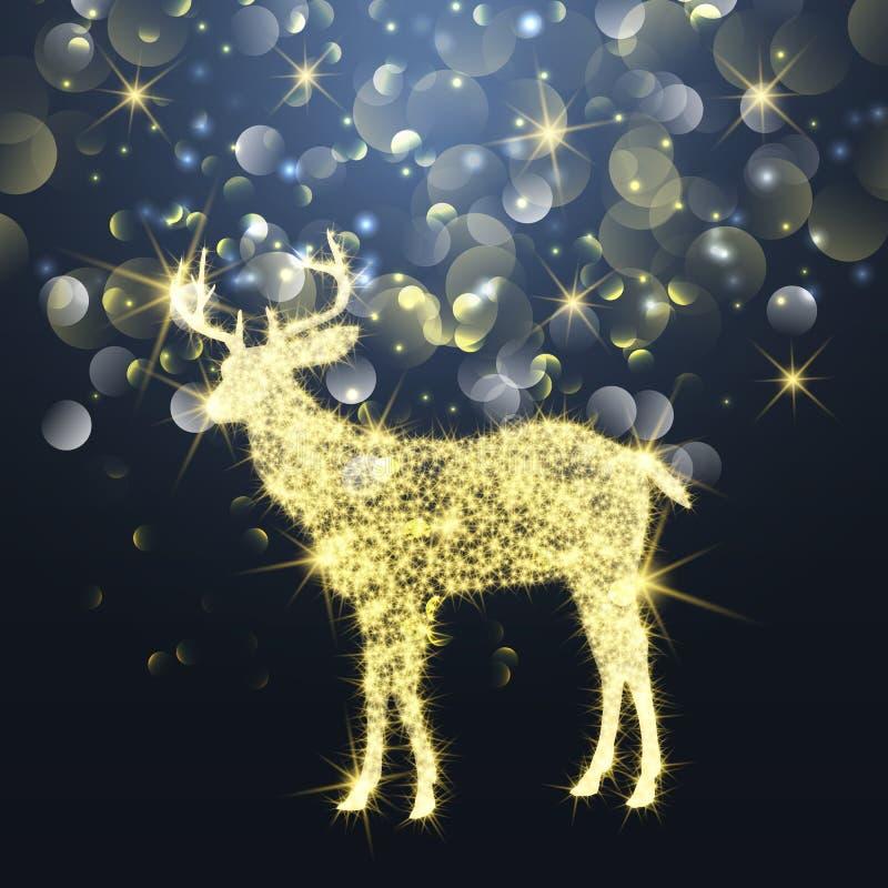 Cervos do Natal da faísca ilustração royalty free