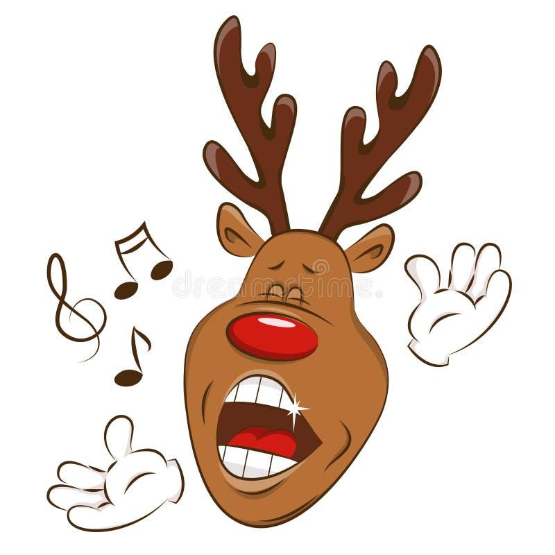 Cervos do Natal que greating o ilustração royalty free
