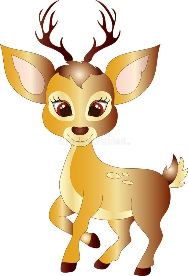 Cervos dos desenhos animados ilustração do vetor
