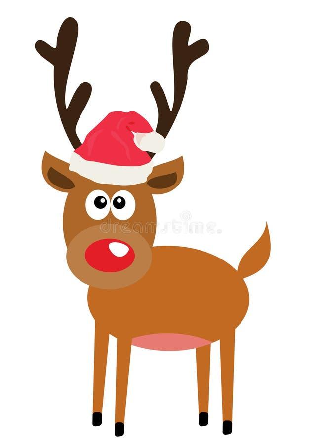 Cervos engraçados do Natal do vetor ilustração stock