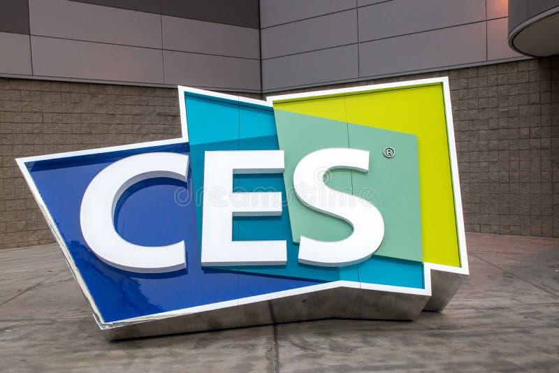 CES - Consumer Electronics Show 2017 foto de stock