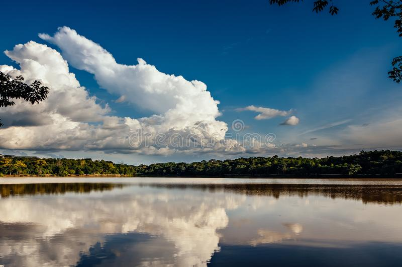 Cesamar Park in Palmas, State of Tocantins, Brazil royalty free stock images