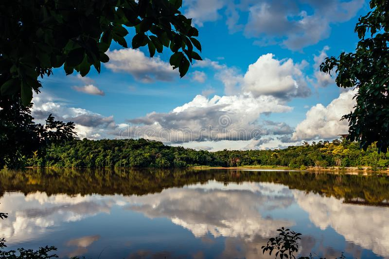 Cesamar Park in Palmas, State of Tocantins, Brazil royalty free stock photos