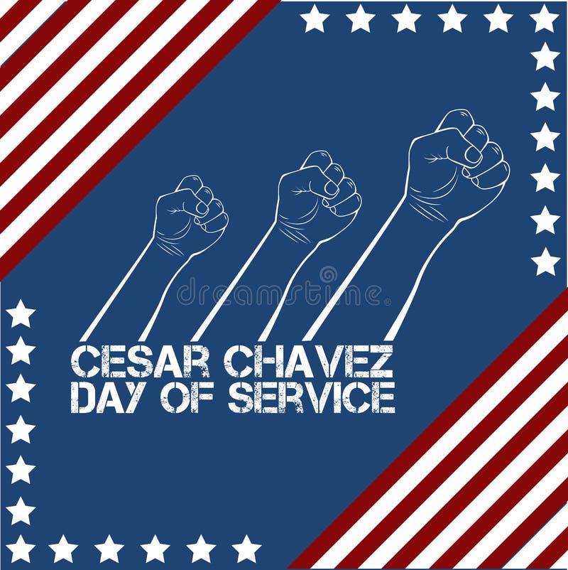 Cesar Chavez, jour de service illustration libre de droits