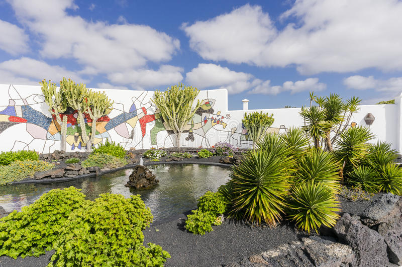 Cesar Marique Foundation Lanzarote royaltyfria bilder