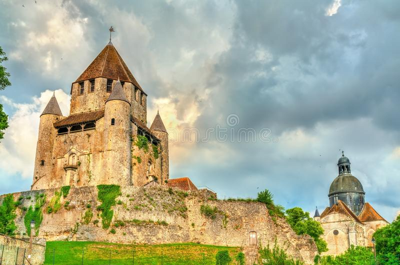 Cesar Tower dans Provins, France photographie stock libre de droits
