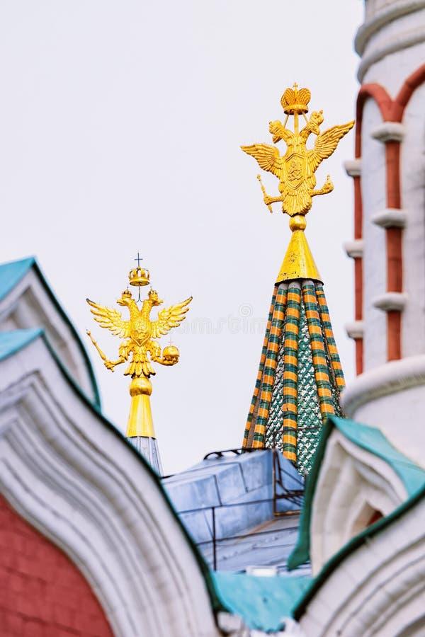 Cesarski Eagles Dziejowa muzeum i Kazan katedra Moskwa obrazy royalty free