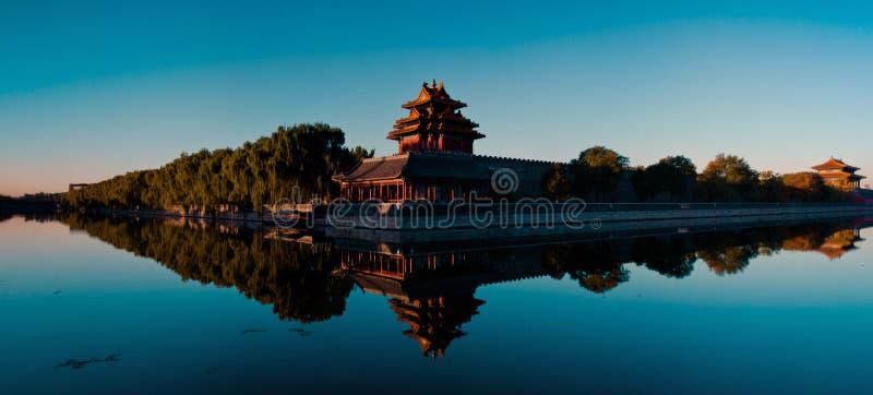 Cesarski pałac embrasured wieża obserwacyjna panoramiczny 4- fotografia royalty free