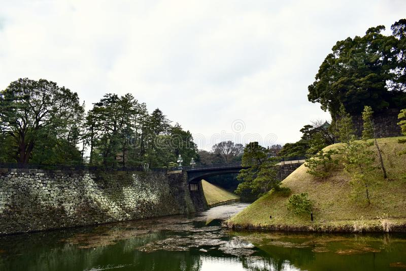 Cesarski pałac ogród w Japonia Tokio obraz royalty free